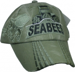 View Buying Options For The Seabees with Bulldozer Washed Mens Cap