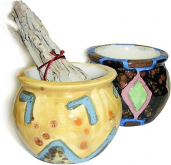 View Buying Options For The American Southwest Hand Painted Ceramic Smudge Pot