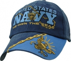 View Buying Options For The United States Navy We Own The Seas Washed Mens Cap