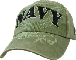 View Buying Options For The Navy with Eagle Washed Emblem Mens Cap