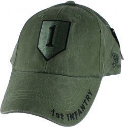 View Buying Options For The 1st Infantry Division Tonal Washed Mens Cap