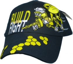 View Buying Options For The Seabees We Build We Fight Emblem Mens Cap