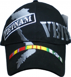 View Buying Options For The Vietnam Veteran with Land and Ribbons Mens Cap