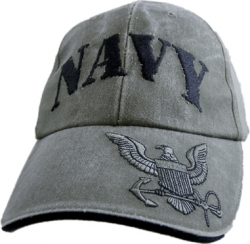 View Buying Options For The Navy Rubber Stamp Logo Emblem Mens Cap