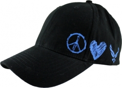 View Buying Options For The US Air Force Peace and Love Emblem Kids Cap