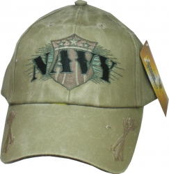 View Buying Options For The Navy Shield with Arrows Mens Cap