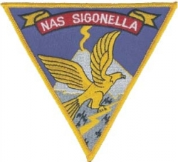 View Buying Options For The N.A.S. Sigonella with Eagle Iron-On Patch