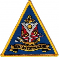View Buying Options For The Naval Air Station Oceana Iron-On Patch