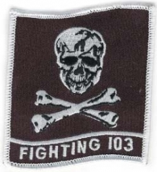 View Buying Options For The Fighting 103 Skull and Bones Iron-On Patch