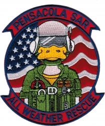 View Buying Options For The Pensacola S.A.R. All Weather Rescue Iron-On Patch