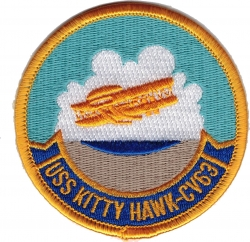 View Buying Options For The USS Kitty Hawk CV-63 Iron-On Patch