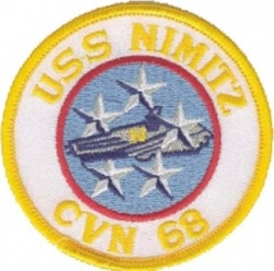 View Buying Options For The USS Nimitz CVN-68 Round Iron-On Patch