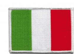 View Buying Options For The Italian Flag Iron-On Patch