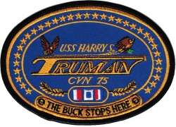 View Buying Options For The USS Harry S. Truman CVN-75 Iron-On Patch