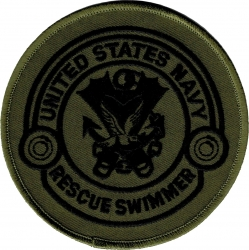 View Buying Options For The United States Navy Rescue Swimmer Subdued Iron-On Patch
