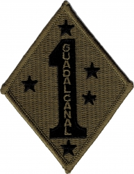 View Buying Options For The 1st Marine Division Subdued Iron-On Patch