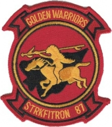 View Buying Options For The Strkfitron VFA-87 Golden Warriors Iron-On Patch