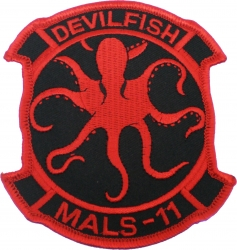View Buying Options For The MALS-11 Devilfish 2-Piece (H&L) Velcro Attachment Patch