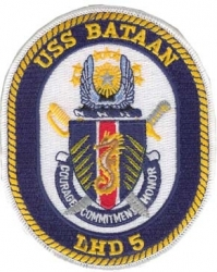 View Buying Options For The USS Bataan LHD-5 Iron-On Patch