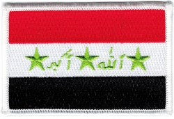 View Buying Options For The Iraq Flag Iron-On Patch