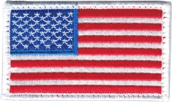 View Buying Options For The American Flag White Edge 2-Piece (H&L) Velcro Attachment Patch
