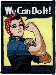 View Buying Options For The We Can Do It WWII Lady Iron-On Patch