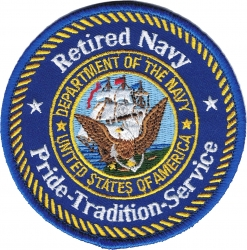View Buying Options For The Retired Navy Pride Tradition Service Iron-On Patch
