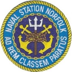 View Buying Options For The Naval Station Norfolk Ad Rem Classem Paratus Iron-On Patch