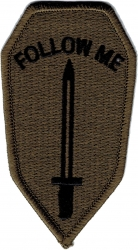 View Buying Options For The Infantry School Follow Me Subdued Iron-On Patch
