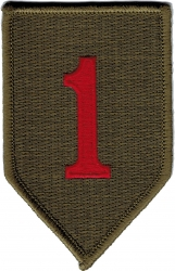 View Buying Options For The 1st Infantry Division Shoulder Iron-On Patch