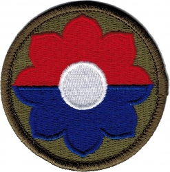 View Buying Options For The 9th Infantry Division Iron-On Patch