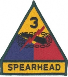View Buying Options For The 3rd Armored Division Spearhead Iron-On Patch