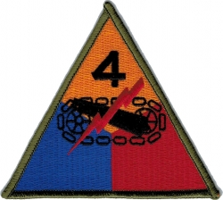 View Buying Options For The 4th Armored Division Iron-On Patch