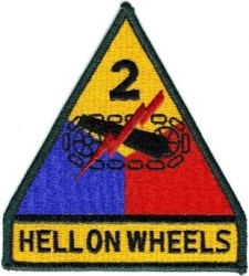 View Buying Options For The 2nd Infantry Division Hell On Wheels Iron-On Patch