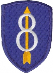View Buying Options For The 8th Infantry Division Iron-On Patch