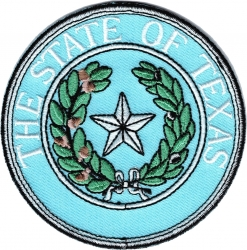 View Buying Options For The The State of Texas Seal Iron-On Patch