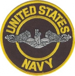 View Buying Options For The United States Navy Submarine Enlisted Silver Iron-On Patch