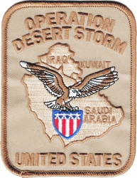 View Buying Options For The United States Operation Desert Storm Iron-On Patch