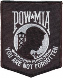 View Buying Options For The POW MIA Banner Iron-On Patch