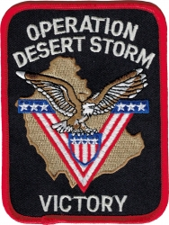 View Buying Options For The Operation Desert Storm Victory Iron-On Patch