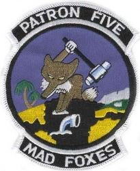 View Buying Options For The VP-5 Patron Five Mad Foxes Iron-On Patch