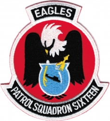 View Buying Options For The VP-16 Patrol Squadron Sixteen Eagles Iron-On Patch