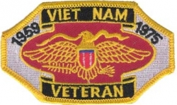 View Buying Options For The Vietnam Veteran 1959-1975 Eagle Shield Iron-On Patch