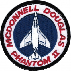 View Buying Options For The Mcdonnell Douglas F-4 Phantom II Iron-On Patch