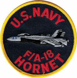 View Buying Options For The U.S. Navy F/A-18 Hornet Aircraft Profile Iron-On Patch