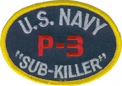 View Buying Options For The U.S. Navy P-3 Orion Sub-Killer Iron-On Patch