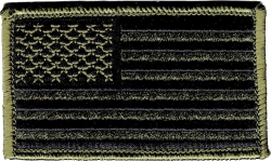 View Buying Options For The American Flag Green Camo 2-Piece (H&L) Velcro Attachment Patch