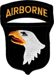 View Buying Options For The 101st Airborne Division Cut-Out Iron-On Patch
