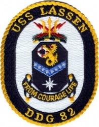 View Buying Options For The USS Lassen DDG-82 Iron-On Patch