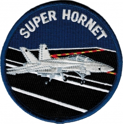 View Buying Options For The F-18 Super Hornet Iron-On Patch